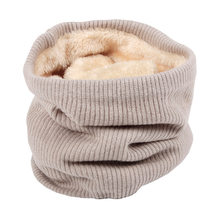 Unisex Winter Infinity Scarf with Faux Fur knit Neck Warmer Chunky Soft Thick Circle Loop Scarves for Woman Man AA10076(China)