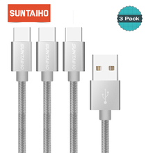 3pcs/lot Suntaiho Nylon USB C Cable for Samsung S9 S8 1m/2m Type C Cable Quick Charging for Oneplus 5 5T Nokia 8 xiaomi mi9 mi 9