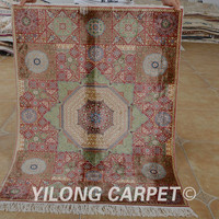 Yilong 3'x4' Antique oriental dark blue tree of life carpet exquisite discount persian rugs (1518)