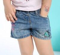 Moda Neonate del Denim Pantaloncini Estivi Per Bambini Bicchierini Dei Jeans Nuovi Bambini di Arrivo Ricamo Pantaloni Corti per Le Ragazze 2-7 anni