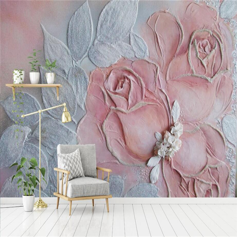 3d Photo of Rose Relief Rose 3d Wall Murals Embossed Non-Woven for Bedroom TV Background 3d Wall Mural Wallpaper Restaurant shinehome classical rose music embossed photo wall paper room wallpaper 3d for livingroom 3 d wall roll background murals rolls