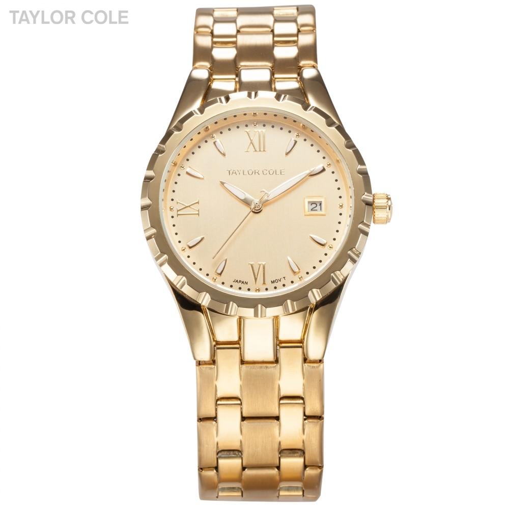 Taylor Cole Aglaia Luxury Brand Roman Date Women Gold Uhren Damen Ladies Steel Band Lady Fashion Bracelet Watch Gift  / TC027 taylor cole relogios tc016