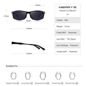 Image 4 - MERRYS DESIGN ผู้ชายโลหะผสมอลูมิเนียมคลาสสิกแว่นตากันแดด HD แว่นตากันแดด Polarized กีฬากลางแจ้ง UV400 ป้องกัน S8266