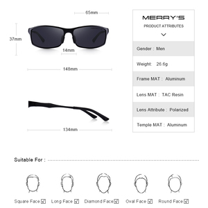 Image 4 - MERRYS تصميم الرجال الكلاسيكية سبائك الألومنيوم النظارات الشمسية HD الاستقطاب النظارات الشمسية للرجال الرياضة في الهواء الطلق UV400 حماية S8266