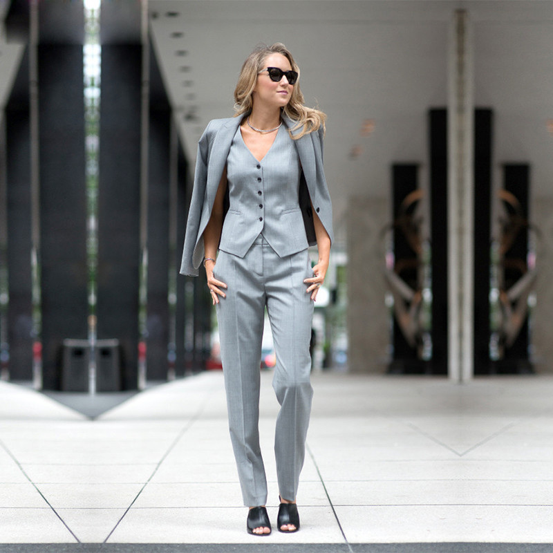 Women Pant Suits Ladies Custom Made Office Business Suits JACKET PANTS VEST New Hot Tuxedos in Pant Suits from Women 39 s Clothing