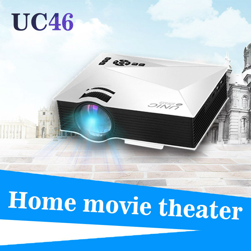 Wireless WIFI UNIC UC46 1200 Lumens LCD LED Mini Projector
