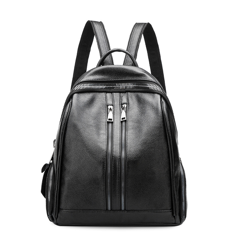 Women Backpack 2017 Genuine Leather Backpacks School Bags For Teenagers Girls Travel Shoulder Bag Black