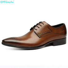 Luxury Brand Men Oxfords Genuine Leather Shoes Handmade Comfortable Formal Men Flat Italian Men's Business Dress Shoe yeinshaars men genuine leather oxfords shoes luxury brand italian style male footwear shoes for men breathable flat lace up shoe