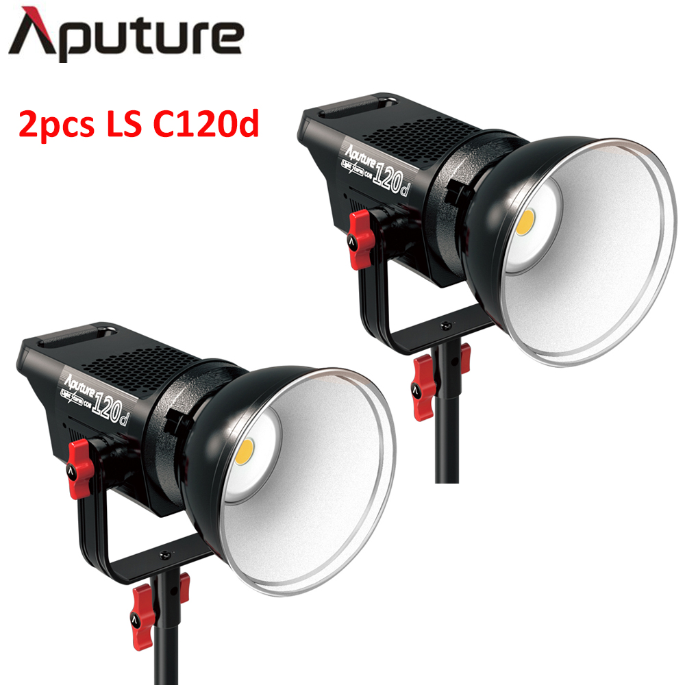 Aputure 2Pcs/set LS C120D  V-mount plate daylight COB led video light professional studio light photo film shooting light