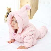 Baby boy christmas clothes white duck down snowsuit rompers playsuit outfits clothes 0 24m thicken warm jumpsuit baby zipperI22