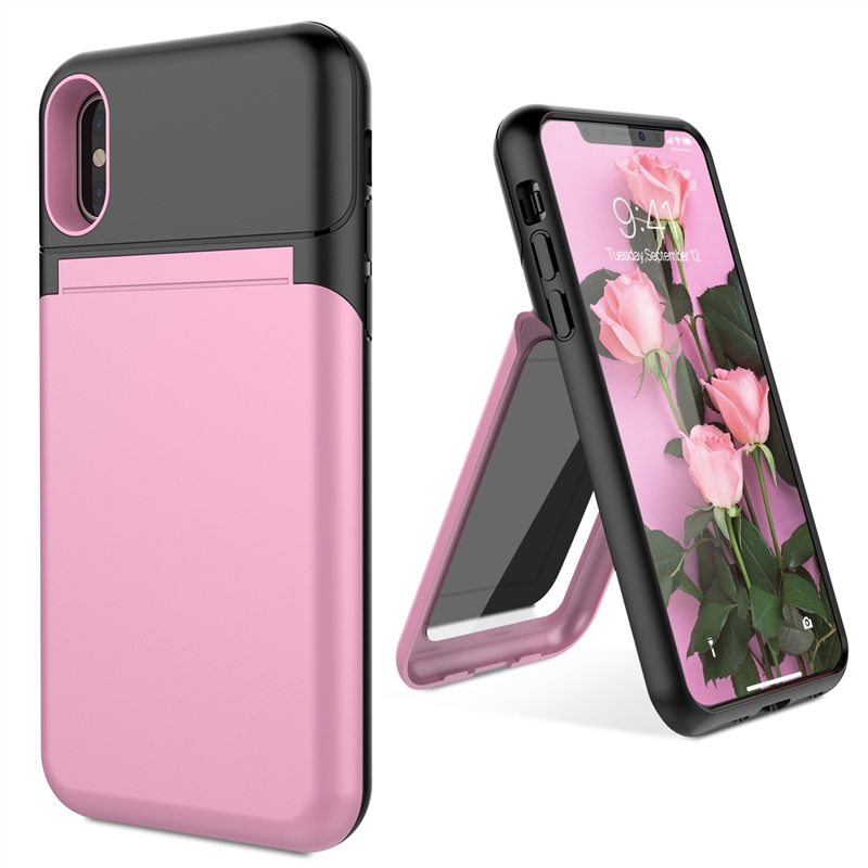 coque iphone 6 with card holder and mirror