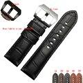 Pam111329 классический мужской черный кожаный часы, 22 мм / 24 мм ретро телячьей кожи ремешок Sterculia бесплатная доставка