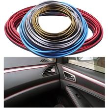 Universal 8 m Car Styling Interior Exterior Moulding Trim Para Coche Flexible de PVC Decorativo Tira de Cromo