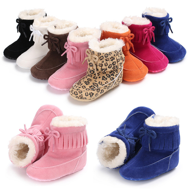 Baby boots Keep Warm Winter Shoes girl boy Toddler Infant Snow Boots Soft  Sole Booties Prewalker Bebe Warming Baby Shoes colors a5757477c601