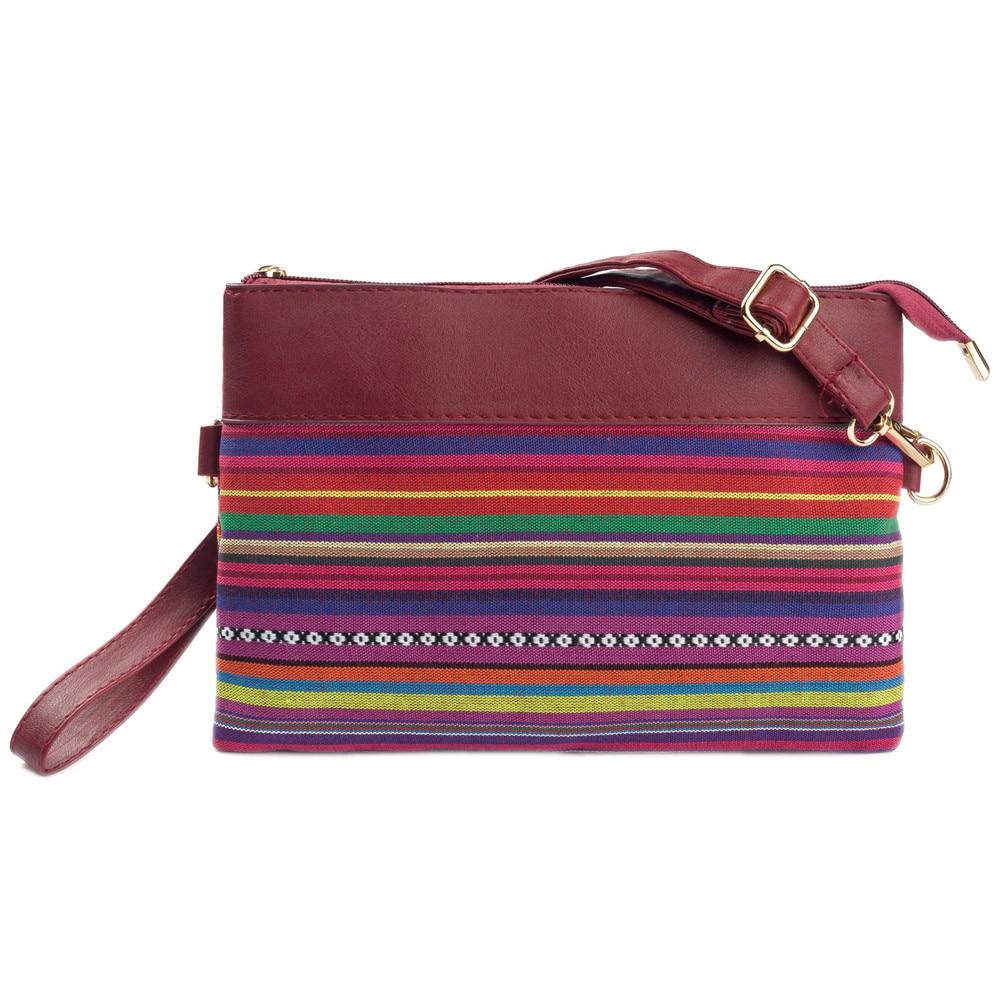 625ba36062 Women National Handbag Shoulder Bag Striped Day Cluthes Coin Purse ...