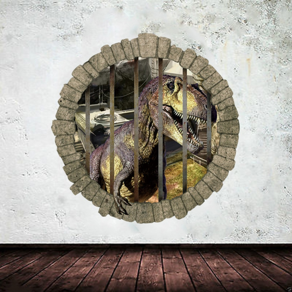 3d Dinosaur Wall Art tyrannosaurus stickers promotion-shop for promotional