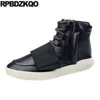 Высокие зимние ботинки из натуральной кожи, сникерсы, черные качественные ботинки на шнуровке из натурального искусственного меха, корейск