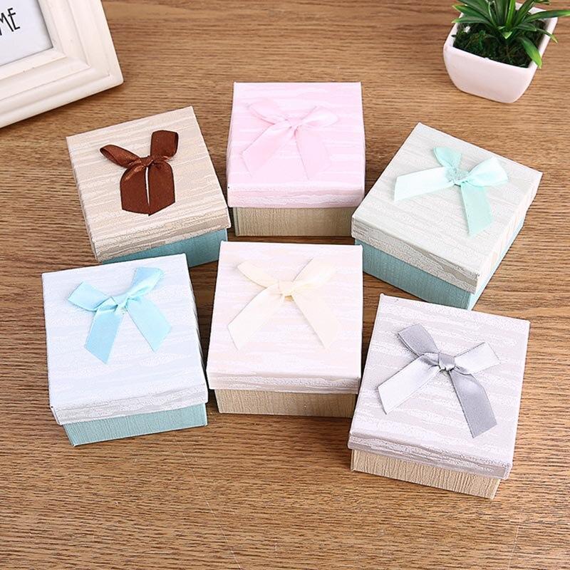 Uhrenboxen Nette Bowknot Papier Präsentieren Uhr Box Fall Für Armband Armreif Schmuck Geschenke Tt @ 88 Herausragende Eigenschaften