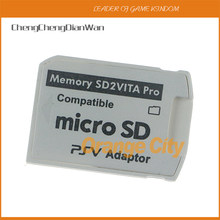 Para sd2vita pro adaptador 5.0 sd micro slot de transferência de cartão de memória para ps vita psv 1000 2000 para psv1000 psv2000 chengchengdianwan