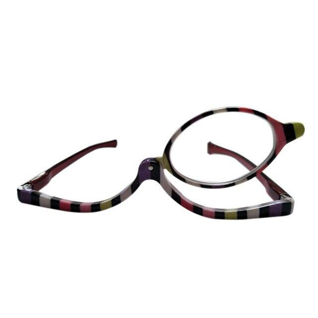 e3e976dc86 Reading Glasses Makeup Eyewear Make Up Spectacles Flip Down Lens Eyeglasses Single  lens Glasses for Women