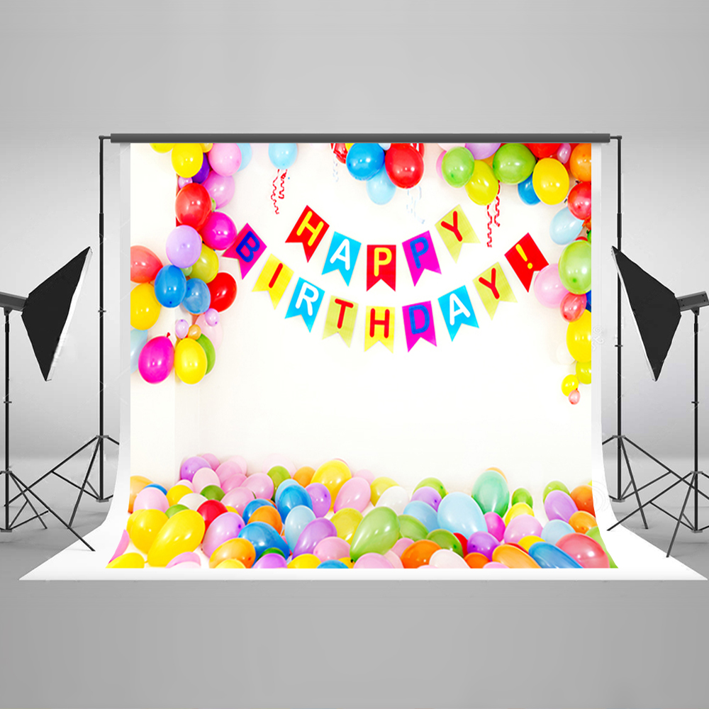 Color booth online - Children Background Color Balloon Photo Booth Backdrop Happy Birthday Background For Photography Studio China