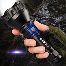 SHENYU ที่มีประสิทธิภาพยุทธวิธี XHP50 ไฟฉาย LED USB ชาร์จไฟฉายกันน้ำ Super Bright โคมไฟ