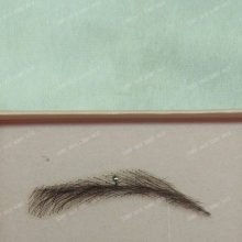 hand made human hair false eyebrow 015 black color swiss lace eyebrow 1b natural black color