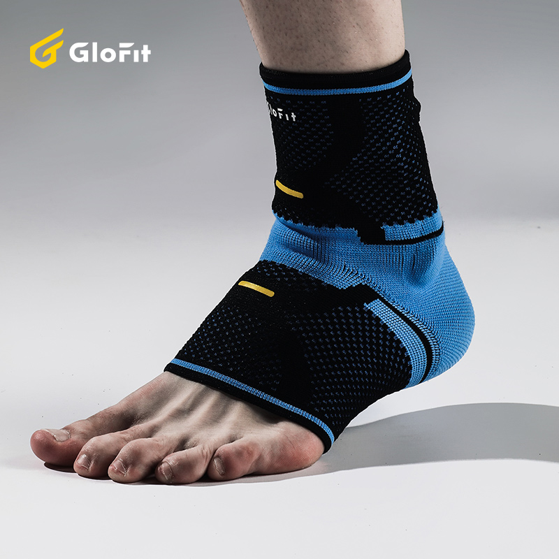 Glofit 1PC 3D Foot Ankle Support Protector Adjustable Elastic Sport Ankle Pads For Basketball Football Voleyball Foot Brace Pad mens thickening football volleyball extreme sports knee pads brace support protect cycling knee protector kneepad ginocchiere