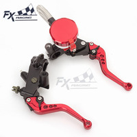 7/8 Motorcycle Brake Clutch Lever Master Cylinder Hydraulic Brake Lever Set For Bajaj Pulsar 200 NS 200 NS200 All Years