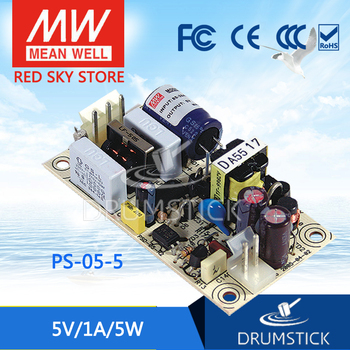 Steady MEAN WELL PS-05-5 5V 1A meanwell PS-05 5V 5W Single Output Switching Power Supply [powernex] mean well epp 400 24 meanwell epp 400 green industrial pcb type