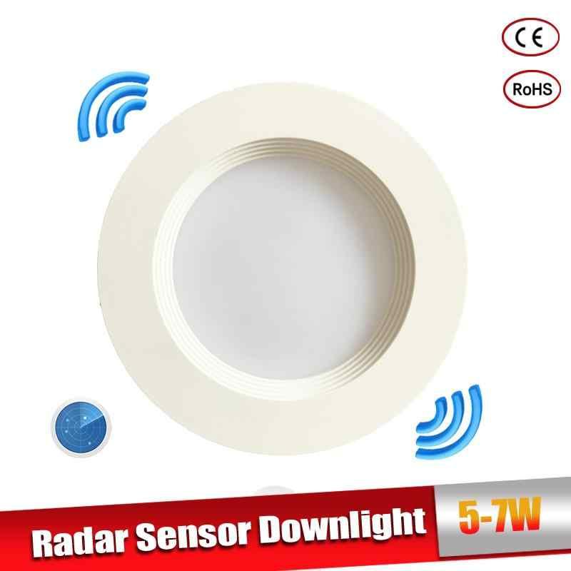 Радар движения сенсорный светодиодный потолочный светильник 5 W 7 W встраиваемый потолочный светильник 110/220 V светодиодный лампы для гостиной проход Indoor светодиодный пятна