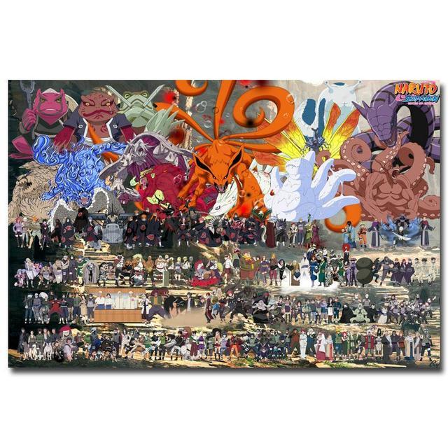 Аниме Плакат Гобелен Шелковый Наруто в ассортименте