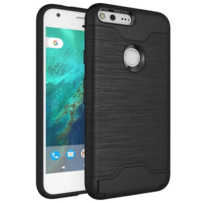 For Google Pixel 2 / Pixel 2 XL 2XL Case Slim Drawing Armor Credit Card Phone Back Cover For Google Pixel XL Card Holder Cases