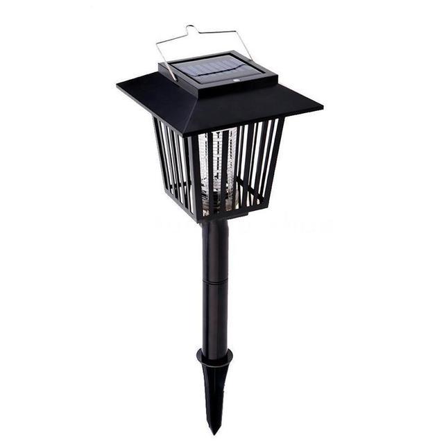 Solar Powered Outdoor Light Garden Yard 3LED Hanger Mosquito Light Fly Killer Lamp Lawn Light Fishing