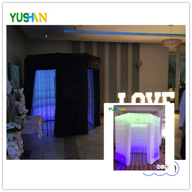 Custom Octagon Photo Booth Enclosure Portable Photo booth Backdrop 2 doors with tassel curtainWedding Party Photo booth Hot sale