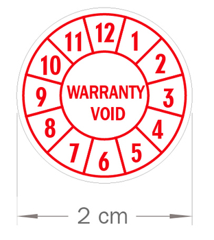 10000 pcs/lot 20mm diameter Warranty void sealing label sticker void if tampered, Item no.V01 фото