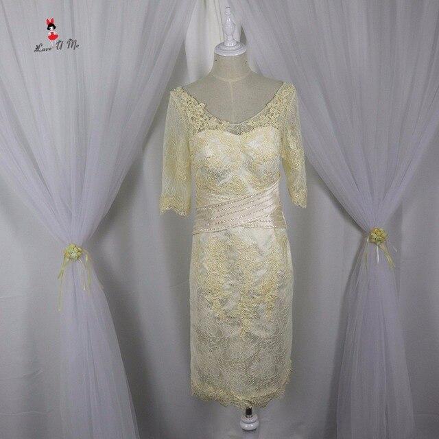Elegante Champagner Plus Size Mutter der Braut Spitze Kleider ...