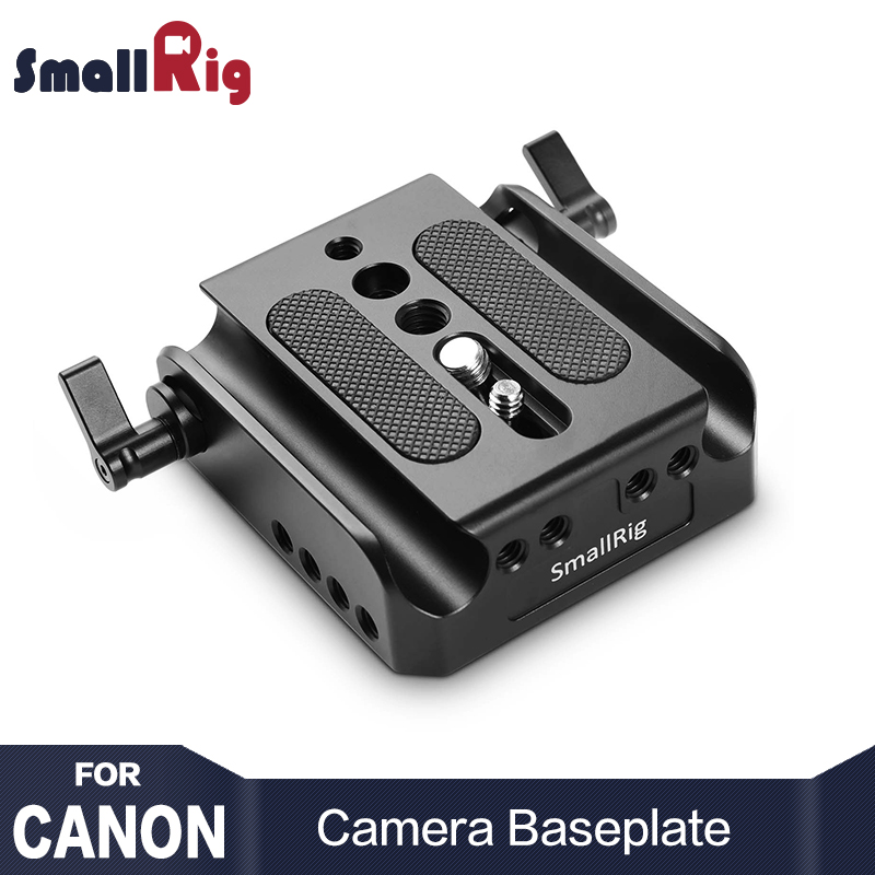 SmallRig Camera Baseplate For Canon EOS C100/ C100 Mark II/ C300 Mark II/ for Sony FS7 Baseplate with 15mm Rod Clamp 1740 ismartdigi lp e6 7 4v 1800mah lithium battery for canon eos 60d eos 5d mark ii eos 7d