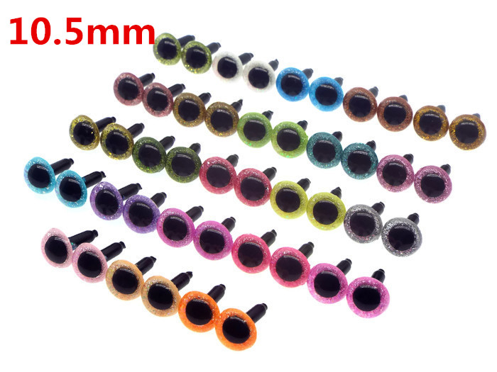 10pairs 10.5mm Amigurumi Safety Plastic Craft Animal Eyes For Amigurumi Crochet Dolls/toys Sicherheitsaugen / Veiligheid Ogen