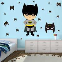 Cute Cartoon Batman Wall Sticker Diy Removable PVC Decal Funny Interesting Art for Kids Room Modern Nordic Home Decor DCTOP