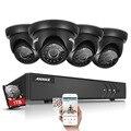 Annke 4ch 1080 p lite hd dvr-tvi 1500tvl 720 p ir ao ar livre sistema de câmera de segurança em casa com 1 tb