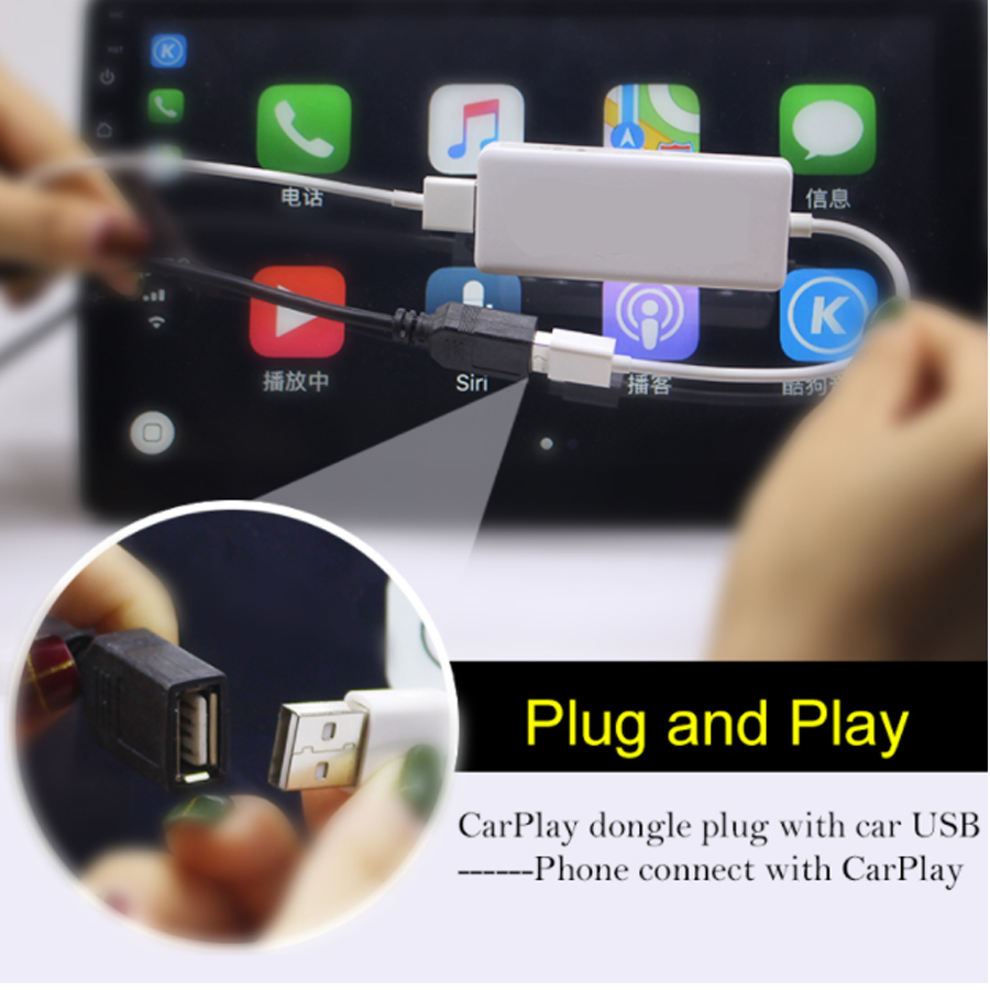Plug And Play Touch Screen Apple Carplay Android Auto Usb Dongle For