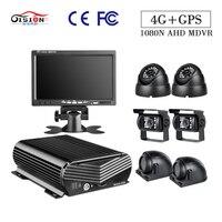 GISION 7 Inch VGA монитор 1080N 4G GPS HDD 8CH мобильный комплект цифрового видеорегистратора, 6 шт безопасности Камера для автобус грузовик такси Survelliance Си