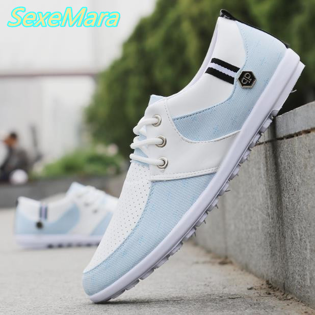 Men Shoes Gray Canvas Shoes Men Blue Casual Shoes Zapatillas Hombre 2017 Spring Fashion New Lace up Male Shoes Men Loafers Flats men shoes men s flats 2017 new spring autumn fashion comfortable canvas men s for man casual shoes zapatillas hombre plus size