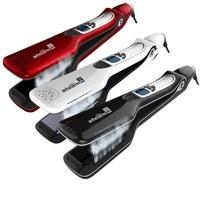Professional Steam Hair Straightener Flat Iron PTC Heating Fast Steam Straightening Irons LCD Hair Care Styling Tools