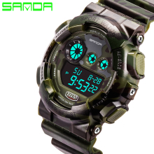 New Hot Sale Sanda Fashion Casual Watch Men Military Waterproof Luxury Sports Digital Male Wrist Watches