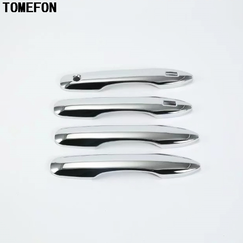TOMEFON ABS Chrome Door Handle Cover Overlay Trim Auto Accessories 4PCS For 4doors For Toyota Camry XV70 2018 2019