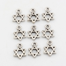 200pcs Antique silver Zinc Alloy Star of David Charm Pendants DIY Jewelry 9x13mm A-023 david silver a slow train coming