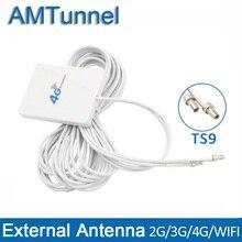 4 г LTE панельная антенна WI-FI 4 г антенны 3 м TS9/SMA мужской/CRC9 разъем для huawei 3g 4 г LTE модем-маршрутизатор Aerial zte маршрутизатор