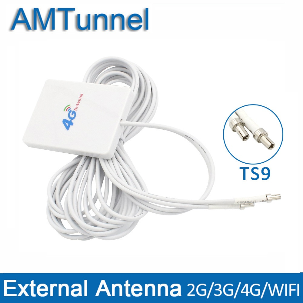 4G LTE panel antena WIFI 4g antena 3 M TS9/SMA macho/CRC9 conector para Huawei 3G 4G LTE Router Modem aérea ZTE router